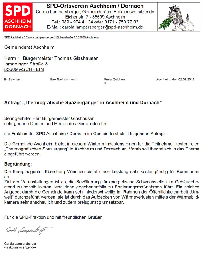 "Antrag ""Thermografiespaziergang"